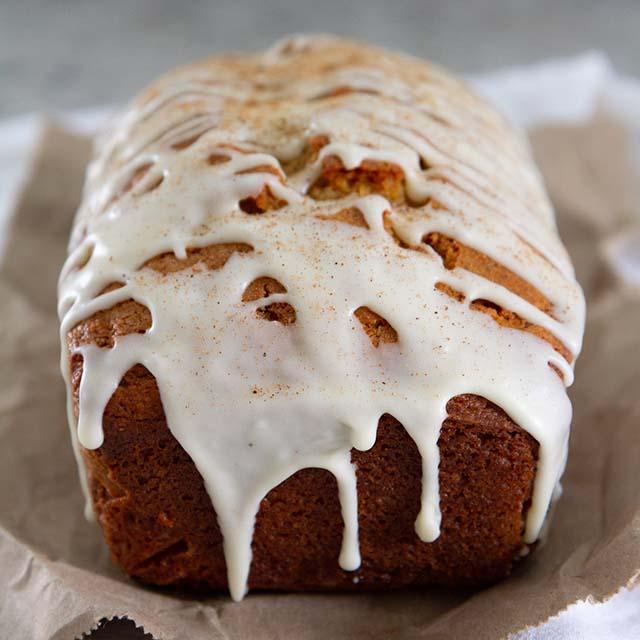 Eggnog Bread With Spiced Rum Glaze