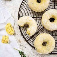 cake donuts on cooling rack