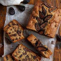 whole wheat chocolate chunk fig bread