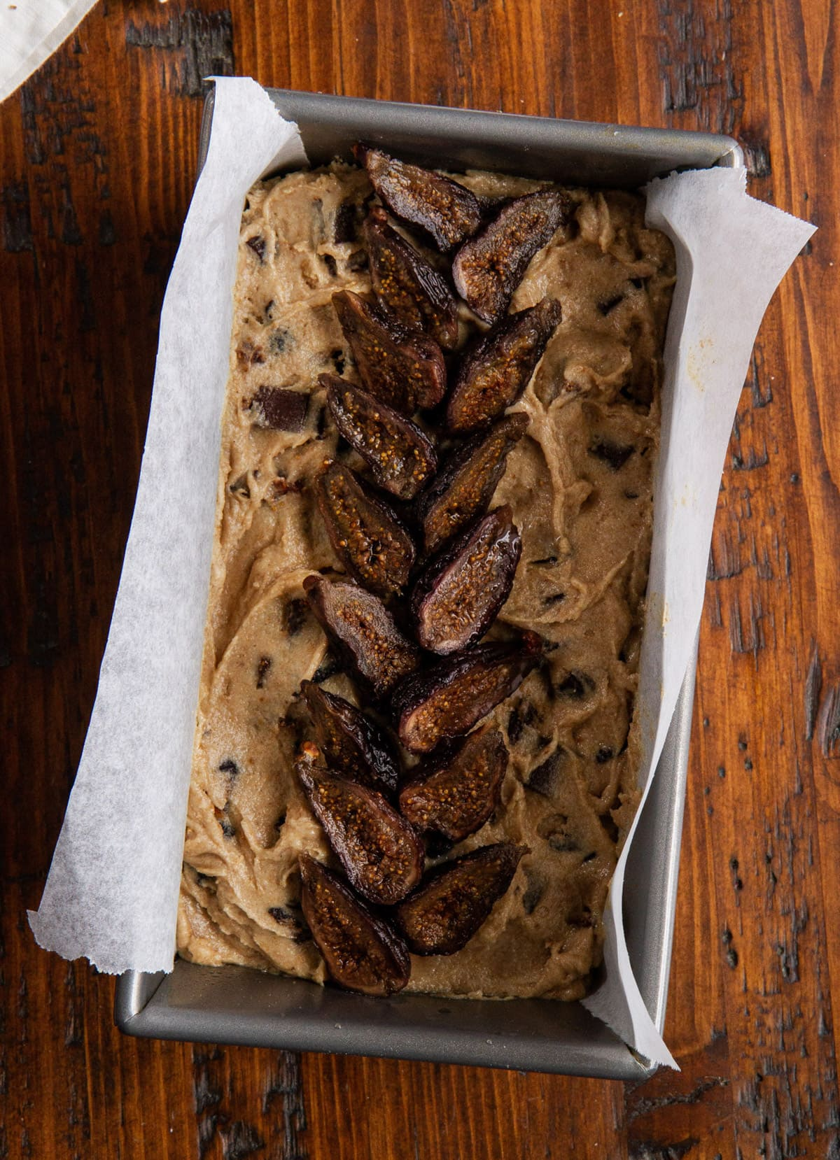 Whole Wheat Chocolate Chunk Fig Bread -- Made with mission dried figs, dark chocolate and whole wheat flour, this quick bread recipe is a smart food choice for the whole fam. @girlversusdough #girlversusdough