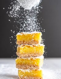 stack of gluten free lemon bars