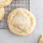 chewy sugar cookies on a cooling rack