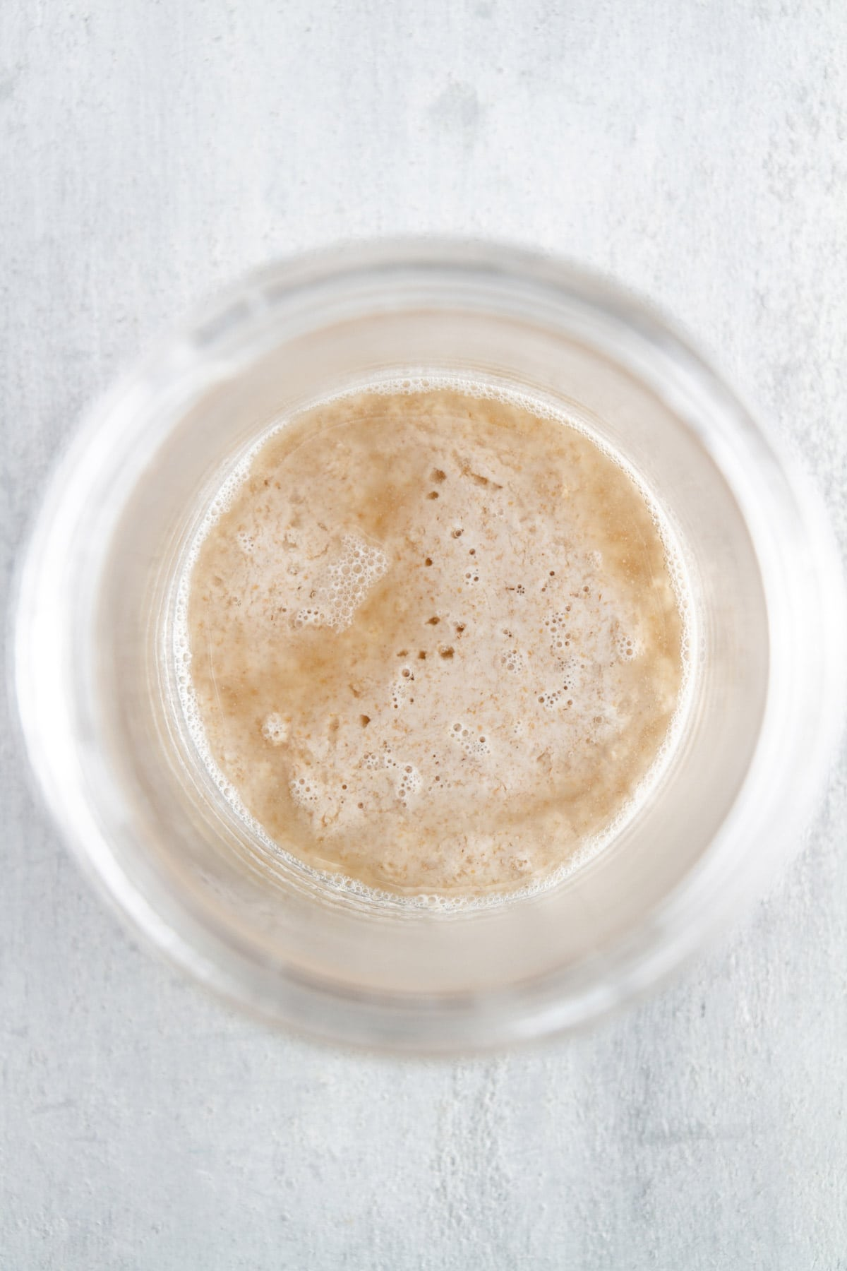 sourdough starter in a jar