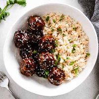 korean bbq meatballs in bowl