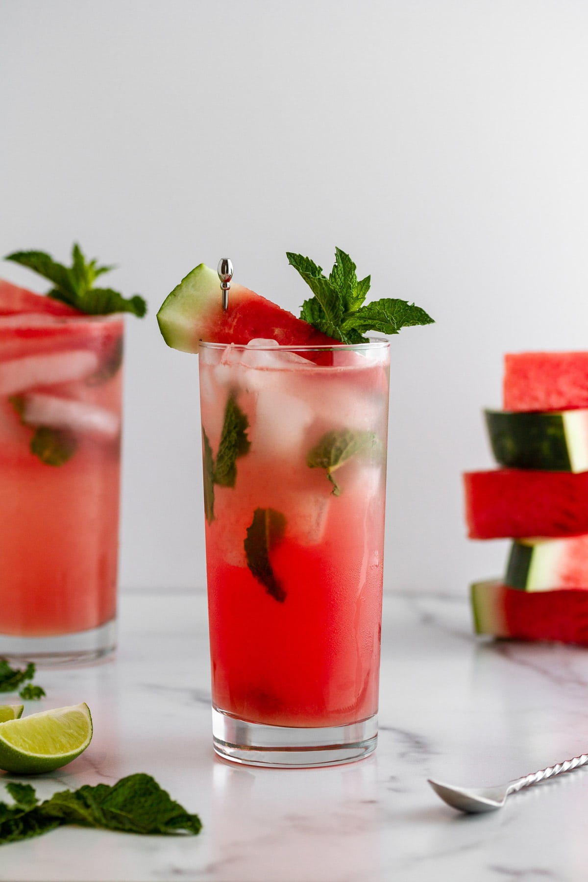 watermelon mojitos on a surface