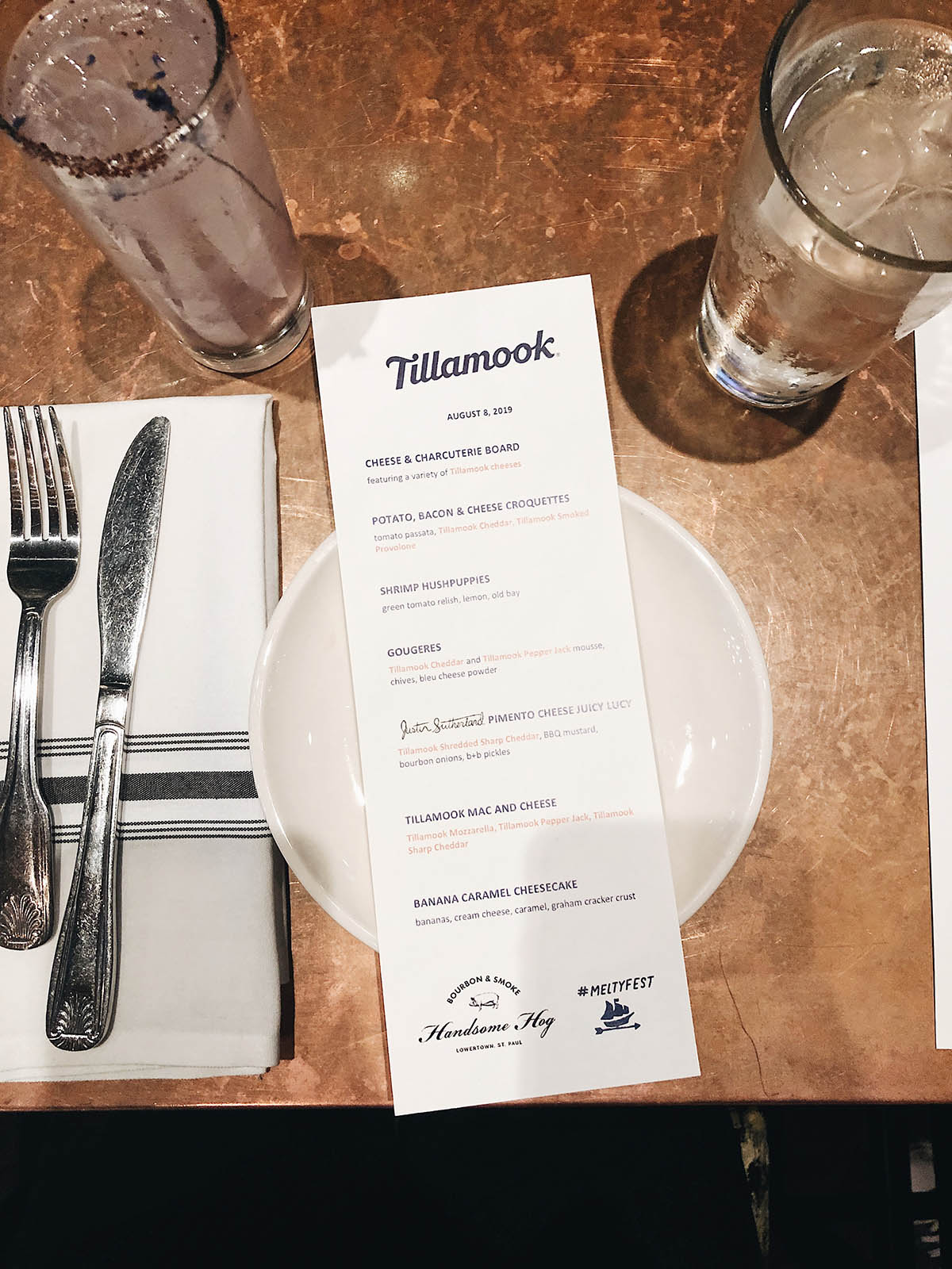 tillamook melty fest menu