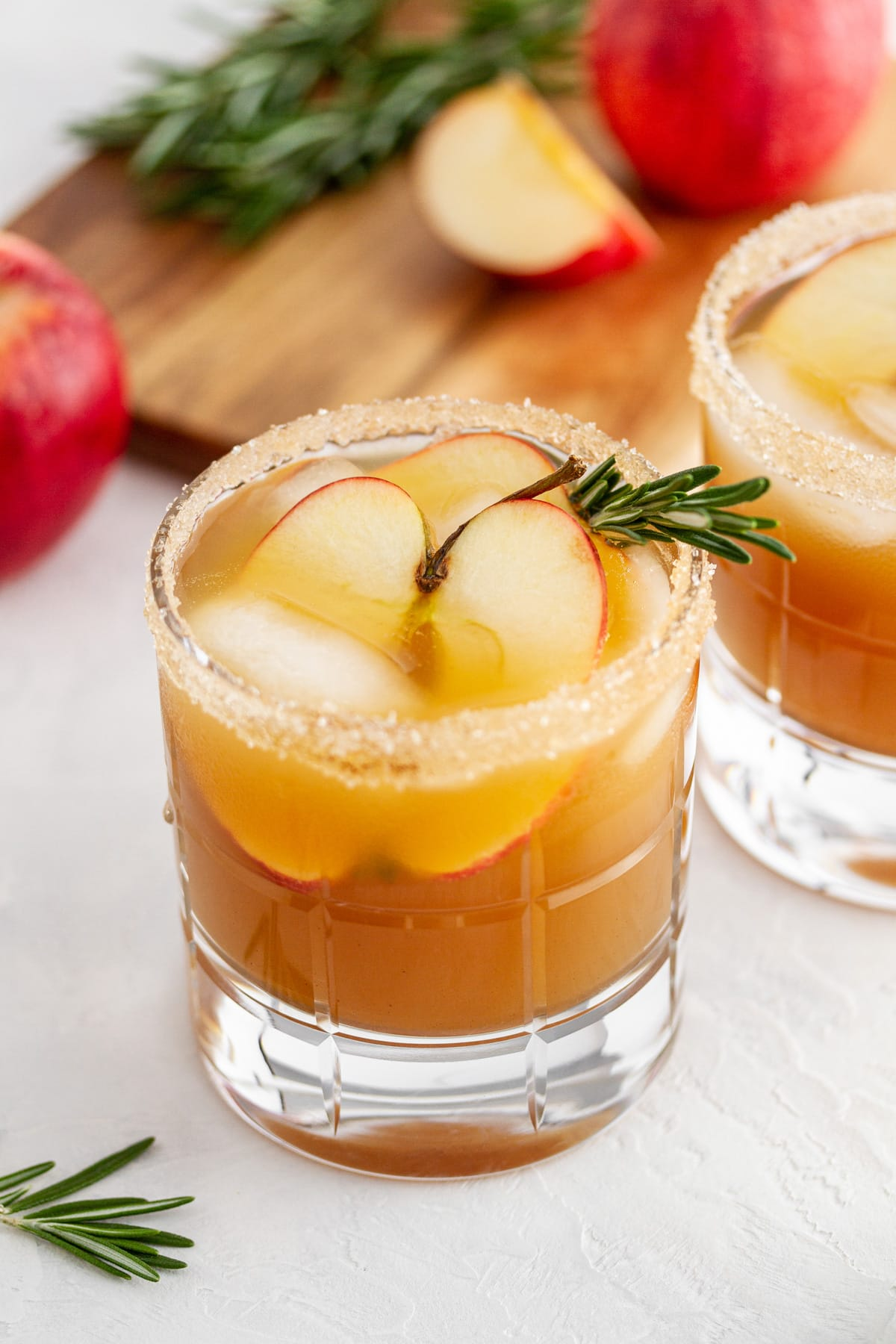 harvest apple ginger smash in a glass on a surface