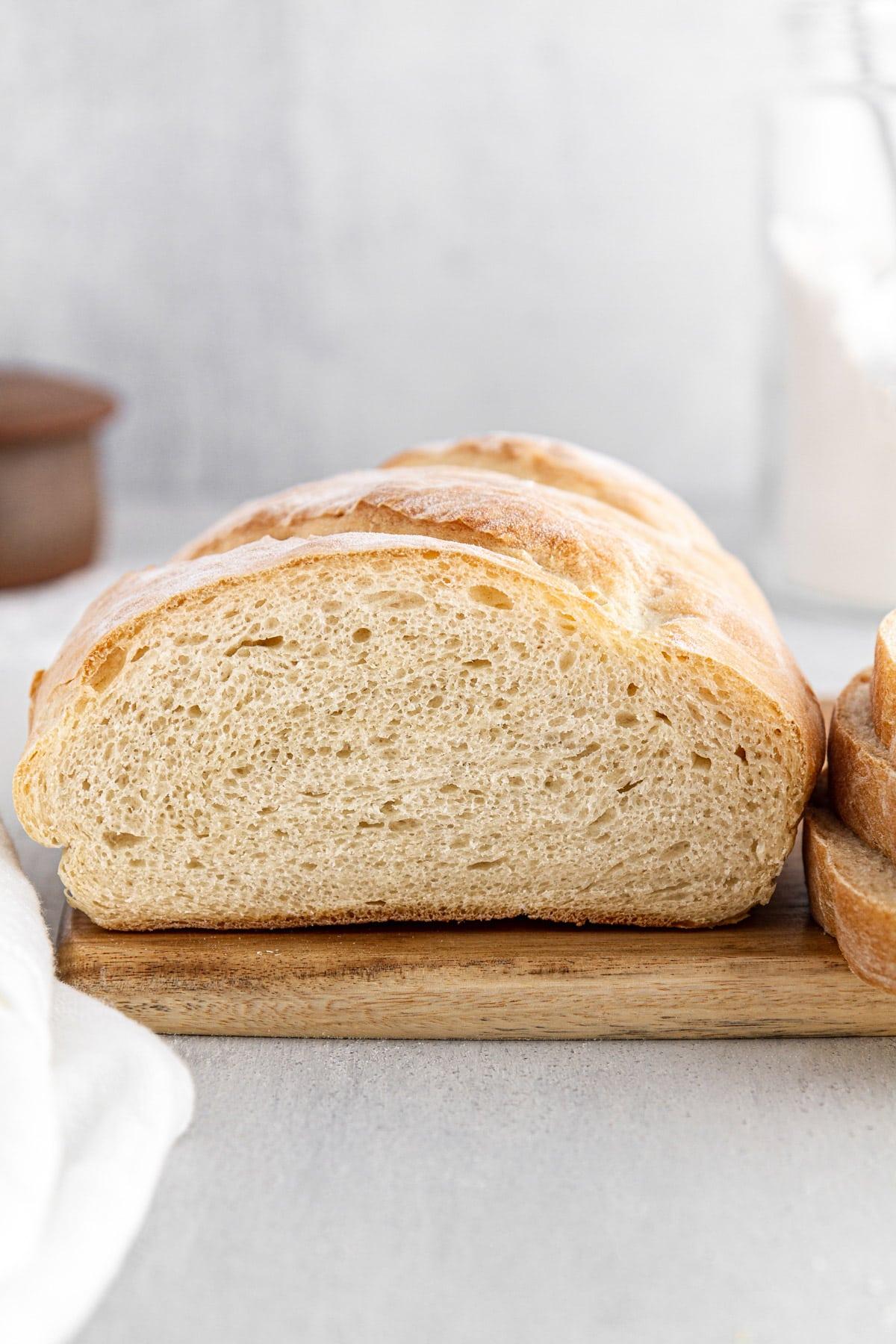 interior shot of Italian bread