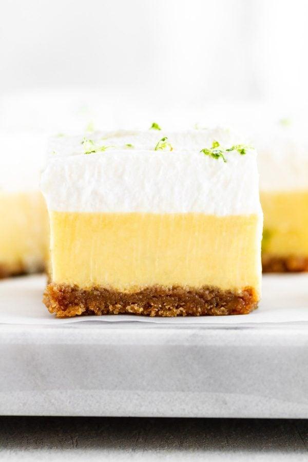 close-up of a Key Lime Pie Bar