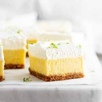 key lime pie bars on a surface