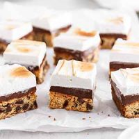 s'mores blondies on a surface