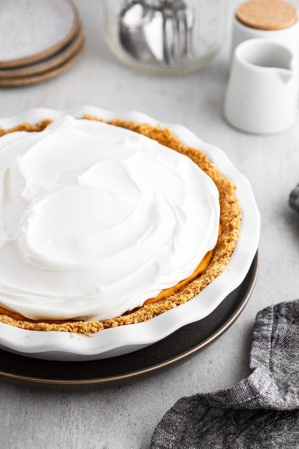 full pie in pie plate