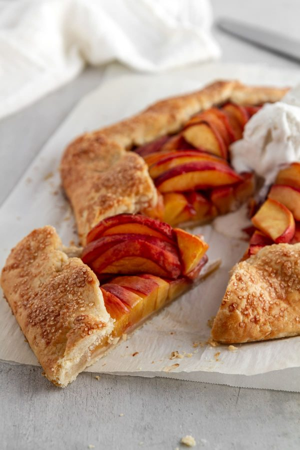 slice of peach galette