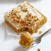 butternut-pumpkin spice sheet cake + bourbon-vanilla cream cheese frosting